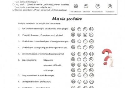 projet de questionnaire de satisfaction des élèves recto