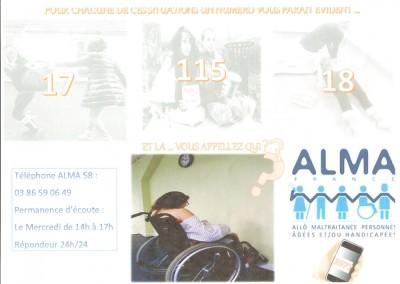 Participation aux concours ALMA 58 pour lutter contre la maltraitance